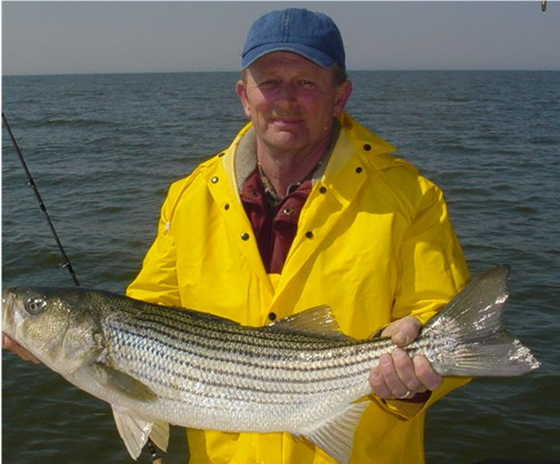 Spring stripers on the delaware bay adam bomb for Adam bomb fishing
